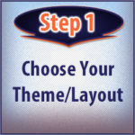 Step 1: Choose your web design theme/layout